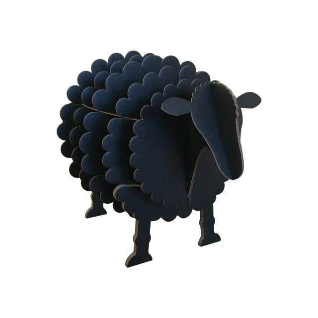 Black Cardboard Sheep Storage Shelf - Image 1 of 6