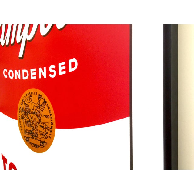 """Andy Warhol Foundation Vintage Large Framed Lithograph Print Iconic Pop Art Poster """" Campbell's Soup I ( Tomato ) """" 1968 For Sale - Image 9 of 13"""