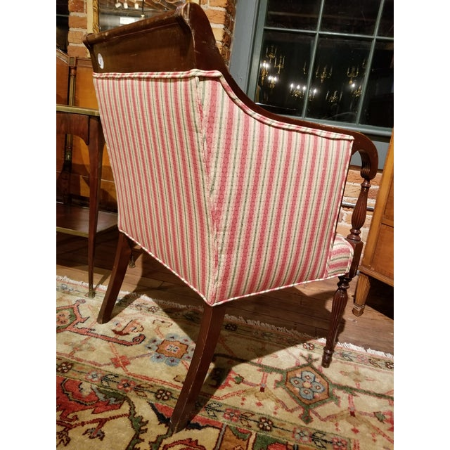 English Southwood Mahogany Wheatback Chair From Waldorf Astoria New York City For Sale - Image 3 of 9