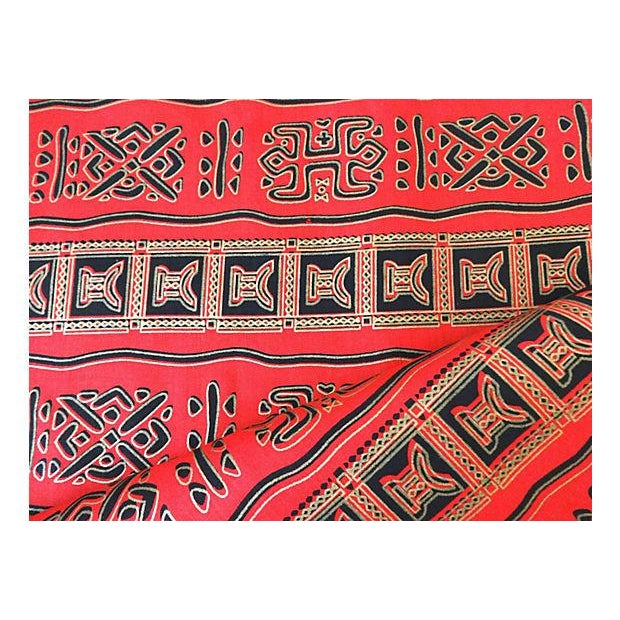 African Kente Cloth Fabric, 12 yards - Image 8 of 8