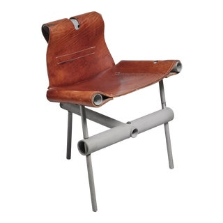 Max Gottschalk prototype leather sling chair, USA, 1960s For Sale