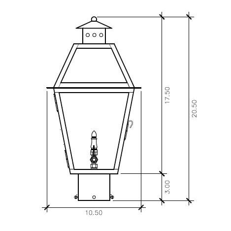This electric post light from our Charleston Collection will give your home that 19th century gas lantern feel. Whether...