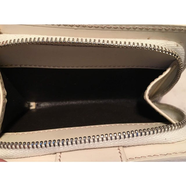 8dd04415ef13c9 Gucci Gg Monogram and Beige Leather Wallet With Zip Pocket and Box For Sale  - Image
