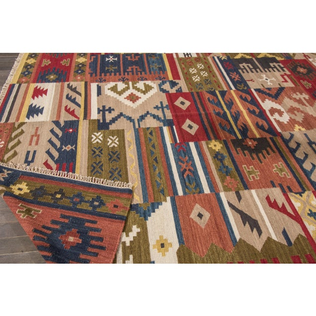 "Apadana - Modern Kilim Rug, 8'5"" x 9'9"" For Sale - Image 5 of 6"