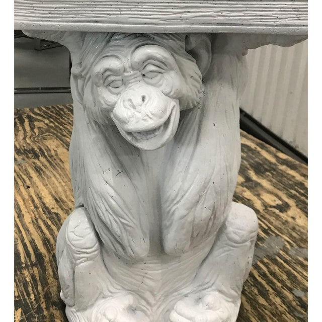 1970s Vintage Plaster Monkey Table For Sale - Image 5 of 10