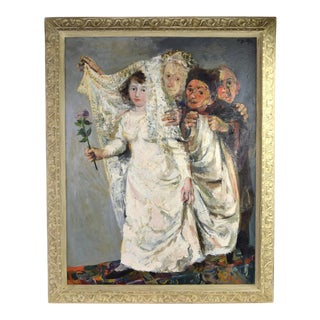 Walter Spitzer Jewish Bride Wedding Allegory Painting For Sale