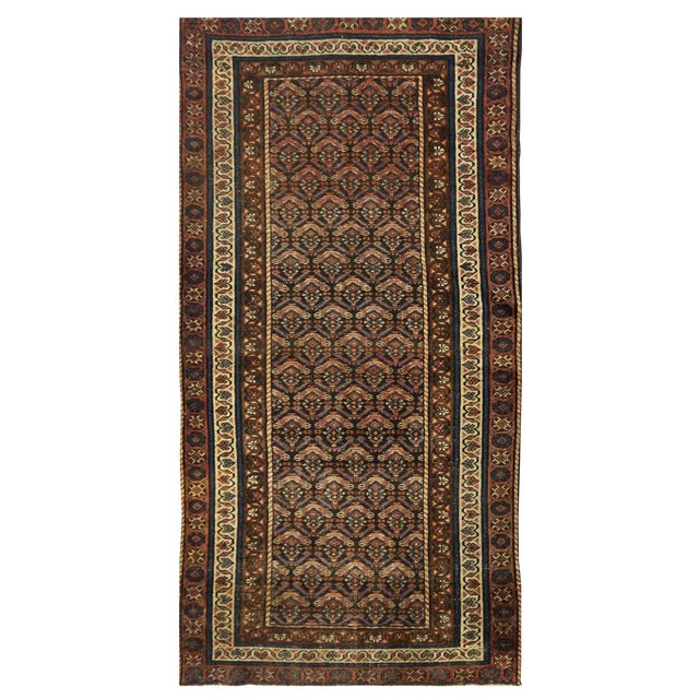 Antique Persian Kurdish Rug - 3'5'' x 6'6'' For Sale