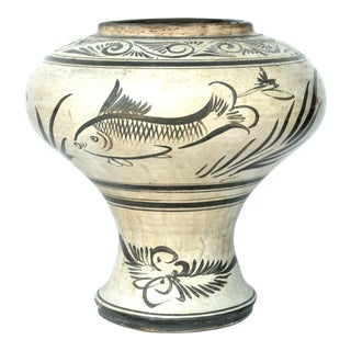 Large Chinese Cizhou Painted Jar 14th Century For Sale