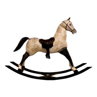 1960s Vintage Metal Rocking Horse for Decoration For Sale