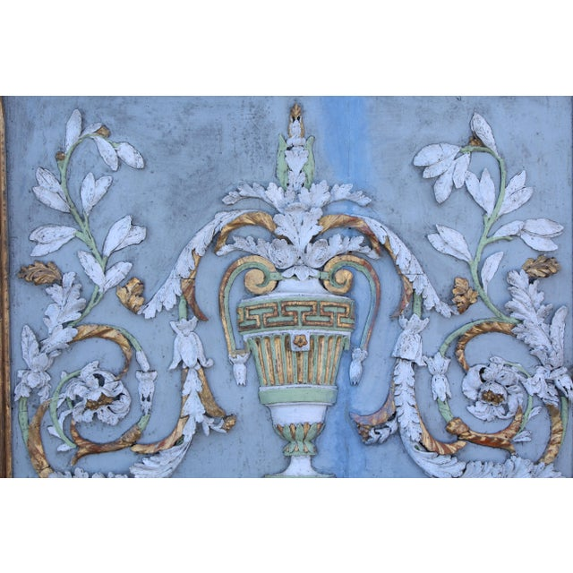 Blue Late 18th Century Swedish Neoclassic Gustavian Wall Panels- A Pair For Sale - Image 8 of 12