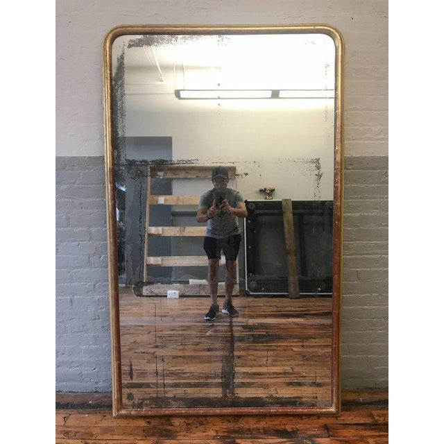 French 19th Century, Mirror With Gilt Frame and Distressed Glass - Image 3 of 9
