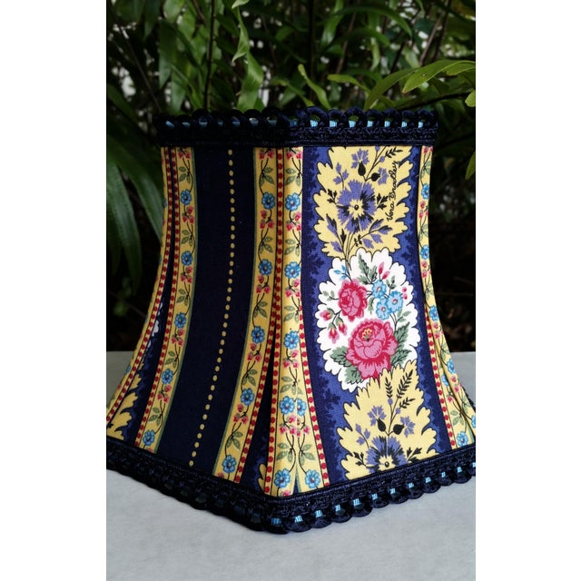 Not Yet Made - Made To Order Vera Bradley Fabric Lampshade Hex Bell For Sale - Image 5 of 11