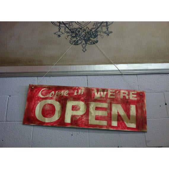 Hand Made Vintage Style Double Sided Wooden Sign - Image 5 of 6