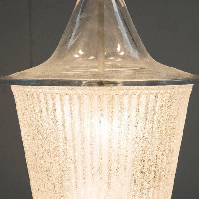 Murano Ceiling Light in Antico Venini Glass, Italy, Circa 1950 For Sale - Image 4 of 9