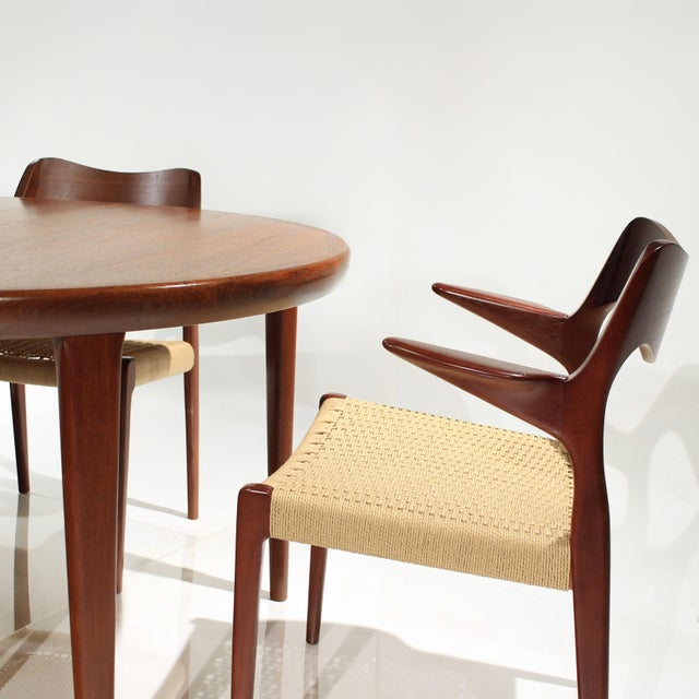 Niels Moller Møller Model 71 & 55 Chairs and Vv Møbler Extension Table - 7 Piece Dining Set For Sale - Image 4 of 12