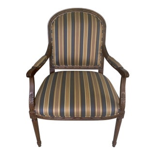 Ethan Allen Carved Nicole Accent Arm Chair For Sale