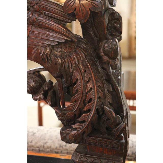Carved Wooden Pheasant With Ebonized Mahogany Base For Sale - Image 4 of 5