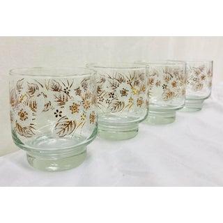 Vintage Set Gold Floral Glasses Preview