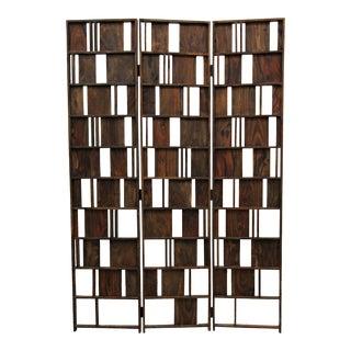 Solid Wood 3 Panel Room Divider Decorative Screen