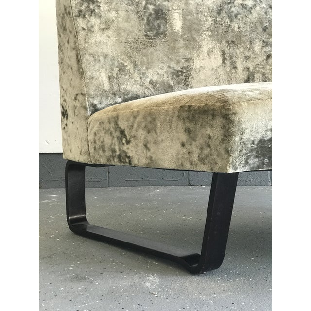 1960s Edward Wormley for Dunbar Curved Settee For Sale - Image 5 of 9