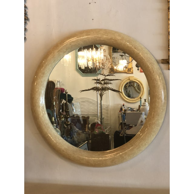 Vintage Bone Brass Console Table and Wall Mirror Set For Sale In West Palm - Image 6 of 13