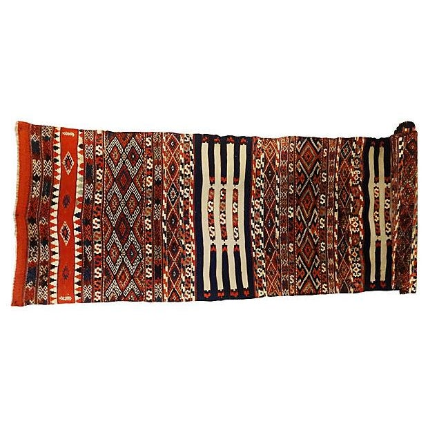 19th Century Azeri Kilim Runner - Image 2 of 7