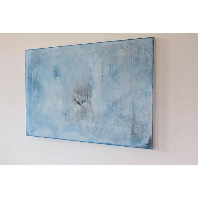Blue Veil. Original Mixed Media Oil on Canvas by C. Damien Fox 2018 - Image 3 of 9