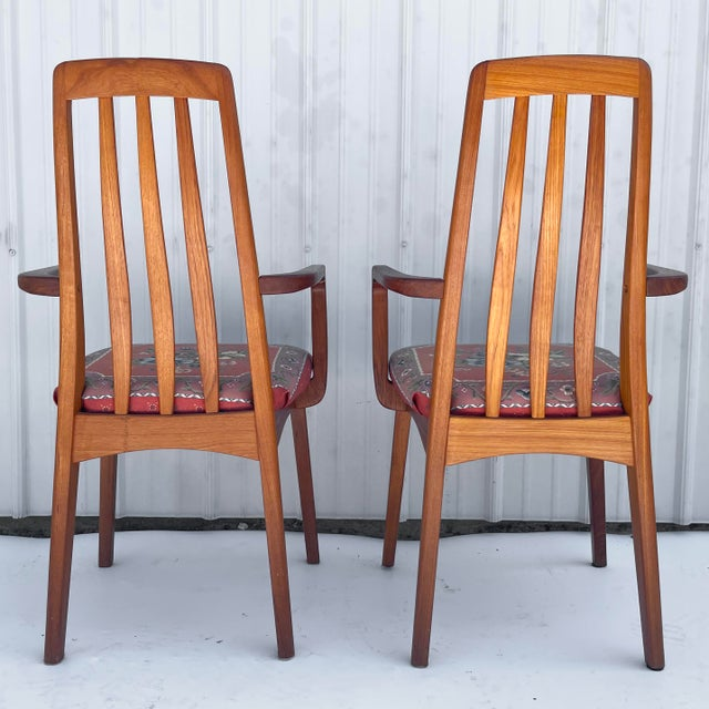 Vintage Modern Teak Arm Chairs- a Pair For Sale - Image 4 of 13