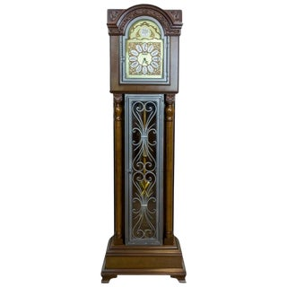 1980s 20th Century Tempus Fugit Grandfather Clock with a Chime For Sale