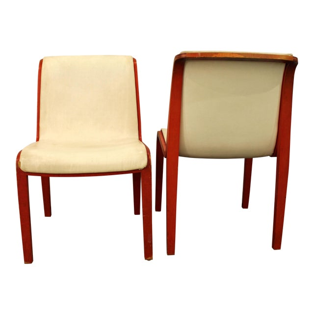 Knoll Bill Stevens Mid-Century Bentwood Side Chairs - A Pair For Sale