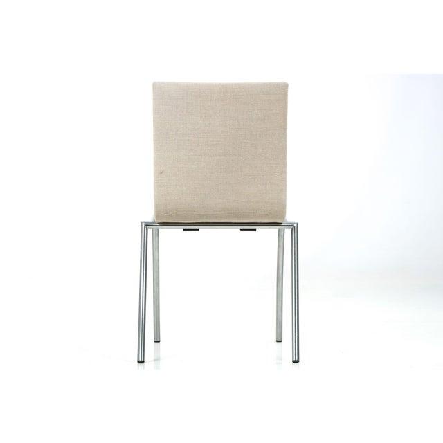Danish Modern Brushed Steel Side Chair by Kvist - Image 5 of 11