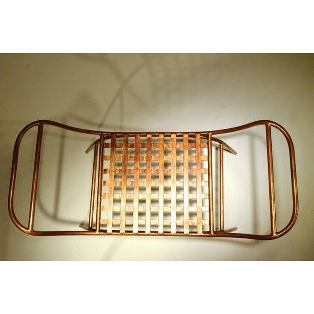 Mid Century Italian Gilded Gold Curule Bench - Image 4 of 12