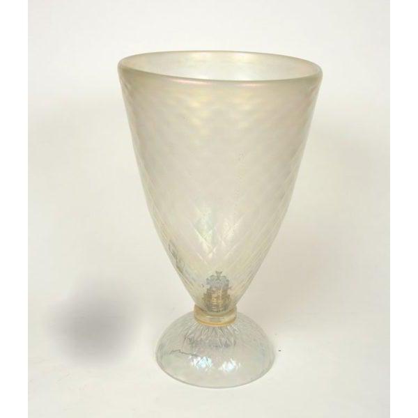Fine Large Murano Uplight Vase Decaso