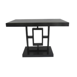 Art Deco Arts & Crafts Mission Ebonized Geometric Side Accent Table For Sale