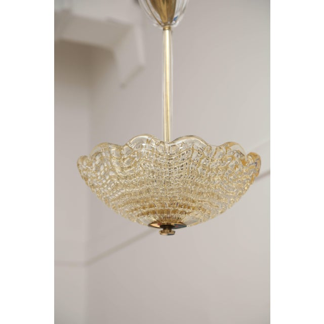 Mid-Century Modern Crystal Ceiling Lamp by Carl Fagerlund for Orrefors, Swedish, 1960s For Sale - Image 3 of 7
