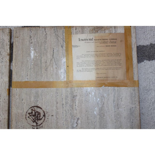 Townsend Manufacturing Co. Dark Travertine End Tables - A Pair For Sale - Image 10 of 13