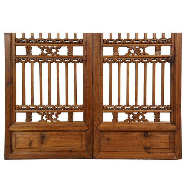Late 19th Century Chinese Antique Carved Window Shutters For Sale - Image 5 of 8