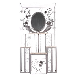French Art Deco Iron Hall Rack For Sale