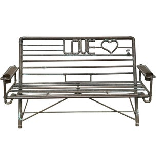 "Industrial ""Love"" Bench"