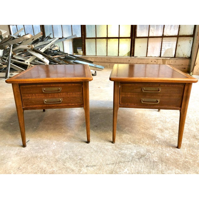 3b9847bfc934a These vintage mid-century Lane Cameo nightstands (or side tables end tables)