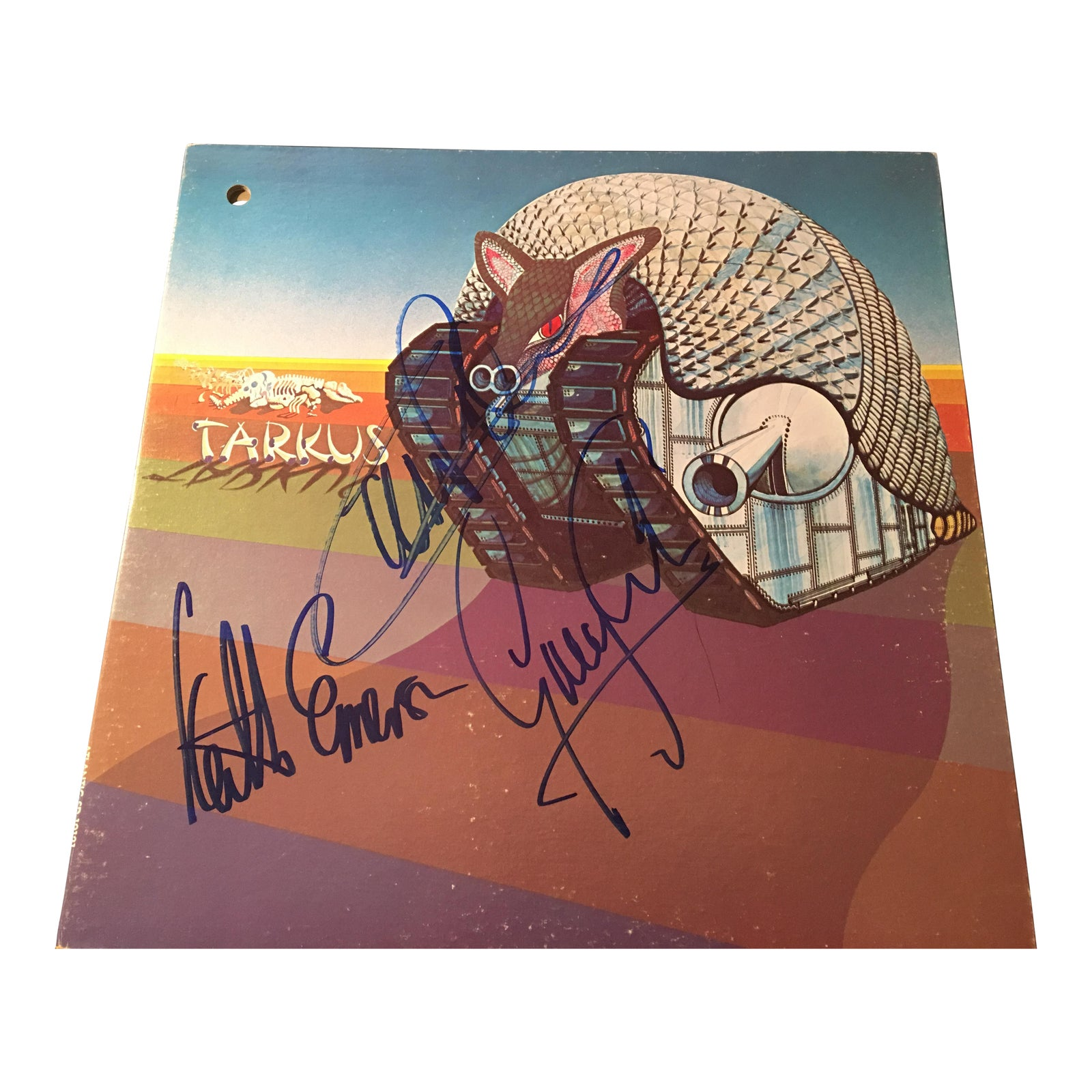 Luxury Emerson Lake And Palmer Tarkus Autographed Album