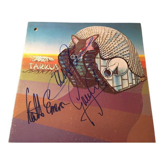 Emerson,Lake and Palmer 'Tarkus' Autographed Album Cover For Sale