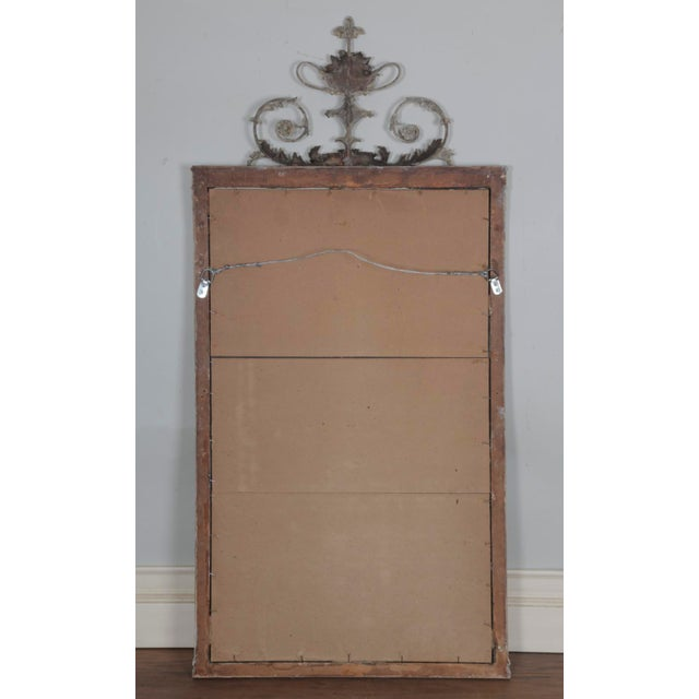 Antique White Antique English Neoclassical Scroll Motif Mirror For Sale - Image 8 of 10