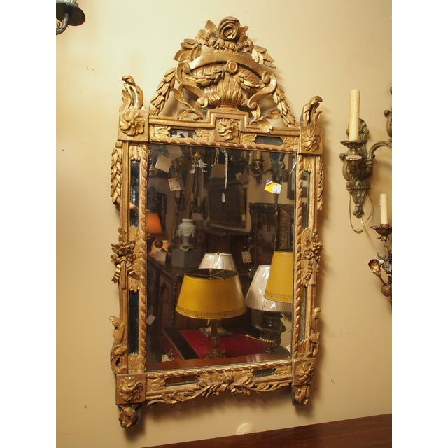 Epoch Louis XVI Gilt Wood Mirror For Sale - Image 9 of 9