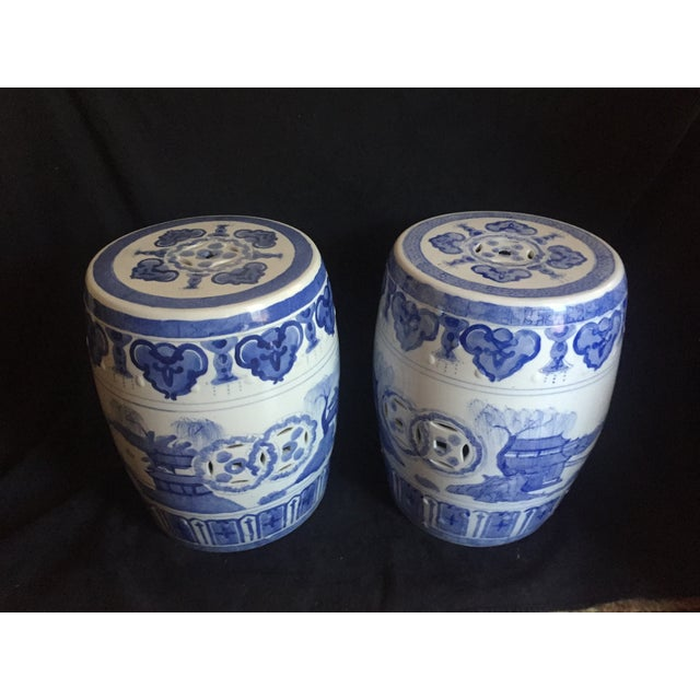 Chinese Garden Stools - Pair - Image 4 of 6