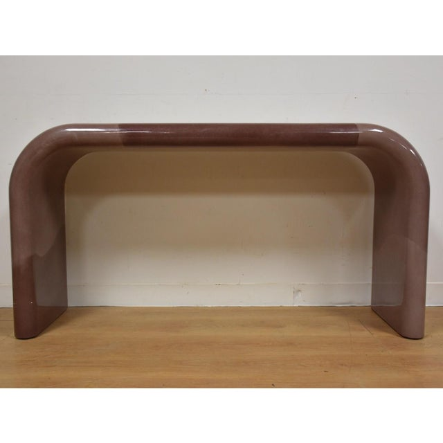 Karl Springer Style Modern Console Table - Image 3 of 10