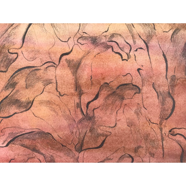 Vintage Mid-Century Modern Abstract Foliate Painting For Sale - Image 4 of 5