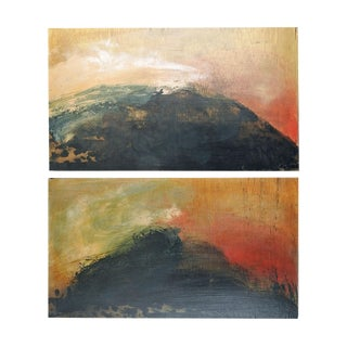 Black Hills Abstract Diptych Painting For Sale
