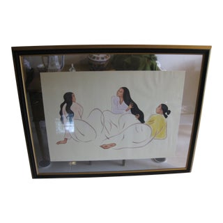 """R. C. Gorman Houston Gallery """"Taos Arabesque St. II"""" Signed & Numbered Lithograph For Sale"""