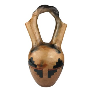 Native American Pottery Navajo Wedding Vase, 20th Century For Sale